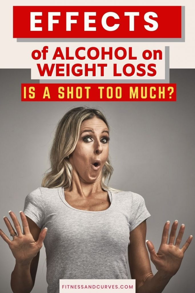 effects of alcohol on weight loss pinnable image on Pinterest