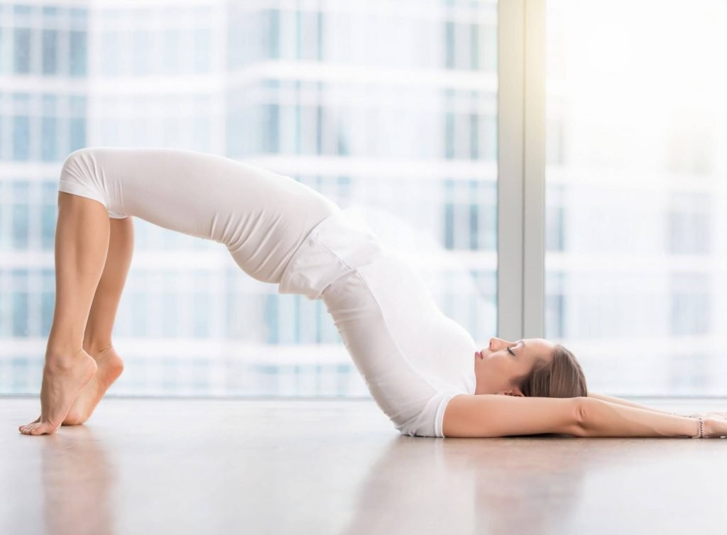 glute bridge as glute exercises for overweight women